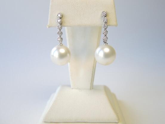 Diamant Südseeperlen Ohrhänger
