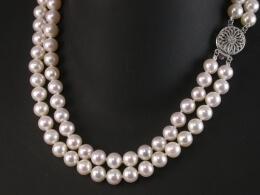 Zweireihige Perlenkette, AAA, 6,5-7mm