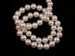 Kette mit Süsswasser Perlen, 6,5-7mm