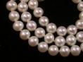 runde, weiße Süsswasser Perlenkette