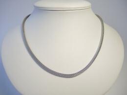 3,2mm Schlauchkette aus rhodiniertem Sterling Silber