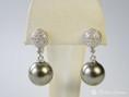 Diamant Perlen Clipstecker