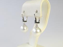 Weiße Südseeperlen Ohrhänger höchster Qualität