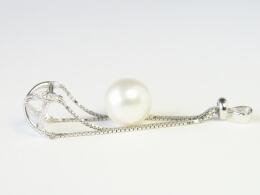 Perlenanhänger mit ungebohrter makelloserSüdseeperle, 13 mm, AAA