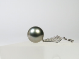 Perlen Aanhänger mit großer Tahitiperle, 13,2 mm, AAA