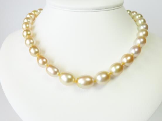 Südsee Perlenkette gold