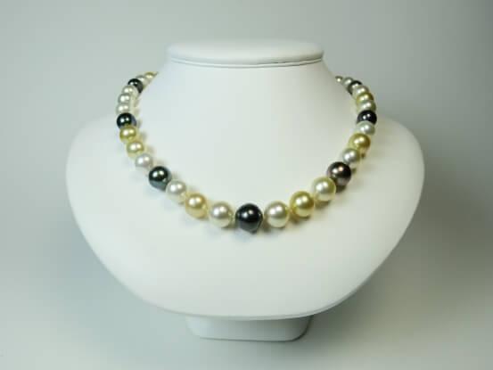 Multicolor Südsee Perlencollier