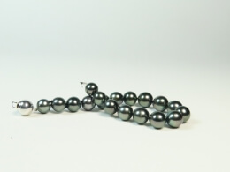 Armband aus nahezu runden Tahiti Perlen, 8,4-10mm