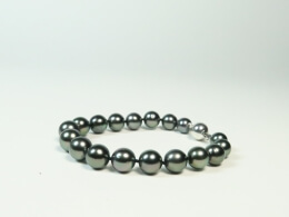 Armband aus nahezu runden Tahiti Perlen, 8,5-10,7 mm