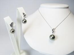 Tahiti Perlen Schmuckset höchster Qualität