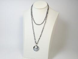 Mabéperlen-Clip-Anhänger mit Perlenkette