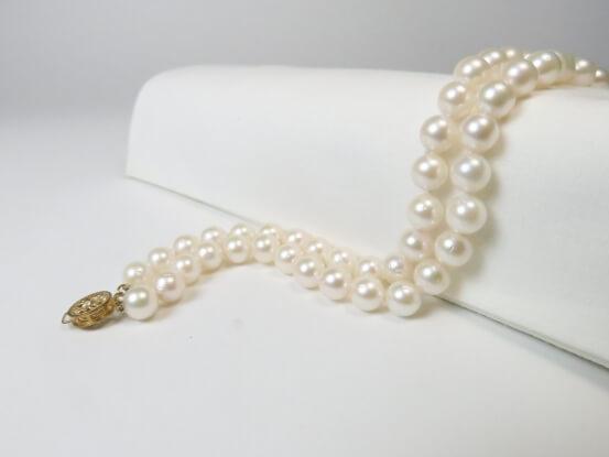Perlenarmband zweireihig