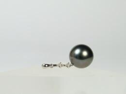 Eleganter Perlenanhänger, 11,7mm, AAA