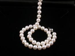 Perlen Kette, AAA, Goldschließe, 7,5-8mm