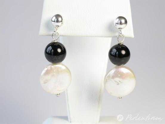 ohrringe perlen onyx