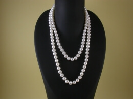 Lange Perlenkette, 7,5-8mm, AAA (86,90 oder 135cm)