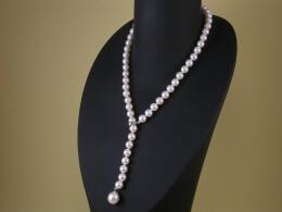 Y-Perlenkette, AAA Qualität, 7,5 -10 mm