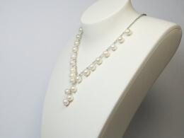 Exklusiver Perlenschmuck aus Y-Kette mit 21 Perlanhängern
