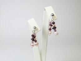 Ohrringe mit Perlen und Granat