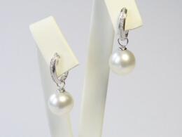 Diamant-Creolen-mit-Südseeperlen, AAA