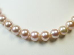 Perlenkette in lavendel, 9,7-10,7 mm, AAA