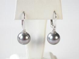 Tahiti Perlen Ohrhänger höchster Qualität, 9 bis 11mm