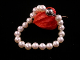 Perlenarmband höchster Qualität, 8,5-9 mm, Goldschließe