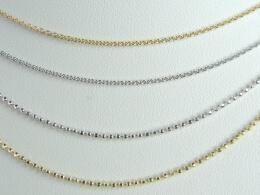 Zubehör: 14 kt.Goldketten für Perlenanhänger