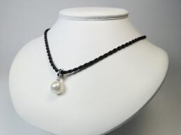 Charm, Clipanhänger mit weißer barocker Perle