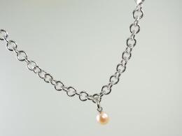 Zubehör:Glieder-Armband oder Kette aus rhodiniertem Sterlingsilber