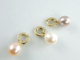 Variationskünstler in Gold:  Charm Perlen-Clip-Anhänger, 10-10,5 mm