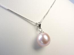 Goldanhänger mit schöner Perle in lavendel, pfirsich oder weiß