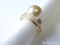 ring perle gold