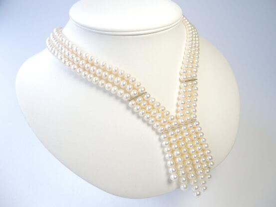 3-reihige Perlenkette
