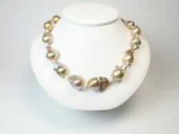 49 cm Barockcollier mit  riesigen Perlen, 14,5-25 mm