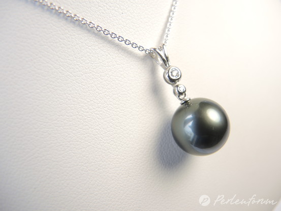 Anhänger dunkle Perle